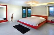 30 Design Ideas Of Modern Floating Bed : Playful Bedroom Design With A Colorful Floating Bed