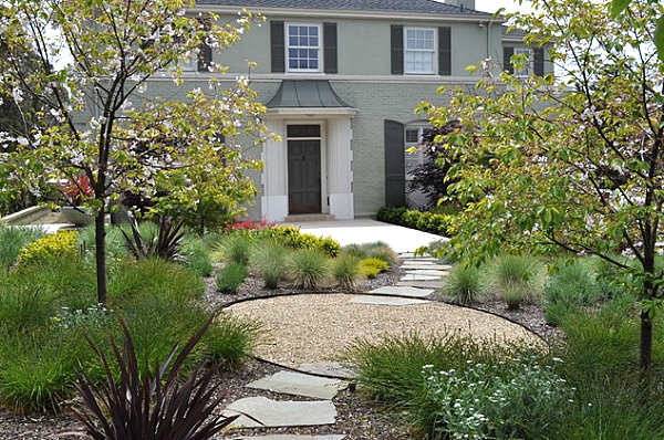 Stunning Front Yard Landscape To Beautify Your House: Plethora Of Plants In A Front Yard