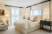 Exclusive Stylish Hotel Interior Simple And Luxurious Design : Plush White Linen In The Bedroom Interior With Elegant Decoration Ideas