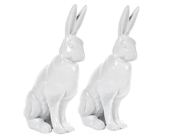 Easter Furnishing For Welcoming Prettiness Of The Spring: 21 Striking Images: Porcelain Rabbits