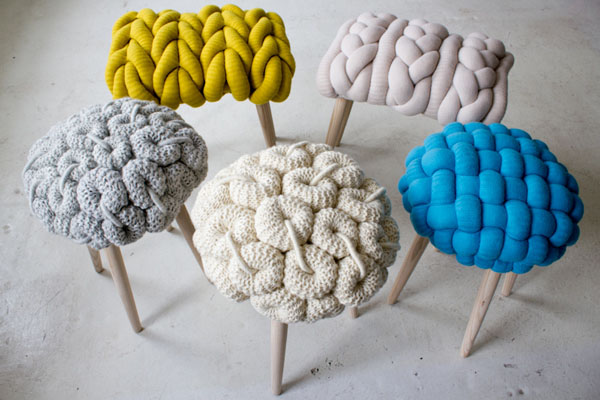 Amazing Knitted Furniture To Bring Positive Atmosphere Inside: Powerful Knitted Furniture And Furnishings For Winter Used Colorful Design Ideas ~ stevenwardhair.com Furniture Inspiration