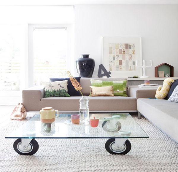 Remarkable Coffee Table Design Concept To Set Attractive Mugs: Powerful Living Room With Modern Sofa Furniture Design And Glass Coffee Table ~ stevenwardhair.com Furniture Inspiration