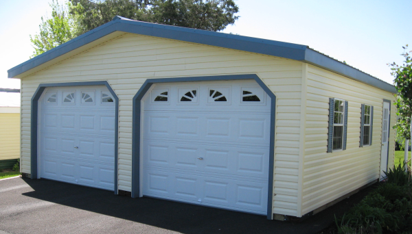 Fine Designed Prefab Garage With Visual Simplicity: Prefabricated Garages Come In Wood