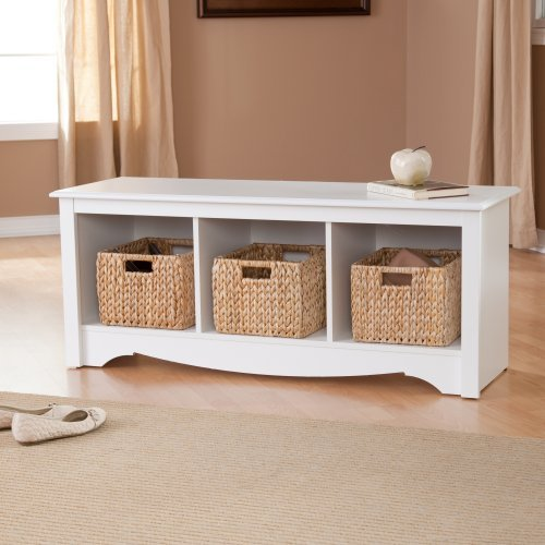 Cubby Bench, Doubled The Function : Prepac Monterey Cubbie Bench
