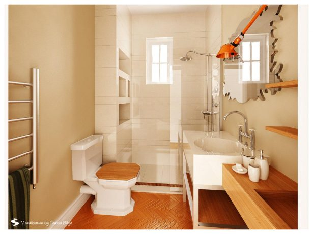 Beautiful Small Bathrooms For Small Houses: Pretty Luxurious Glass Wooden Small Bathroom Ideas ~ stevenwardhair.com Bathroom Design Inspiration