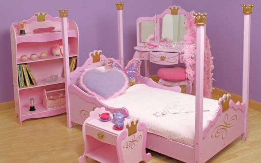 Fun Toddler Bunk Beds With Inspiring Ideas : Princess Toddler Beds Ideas