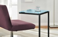 Luxurious C Table From IKEA : Purple Chair Floor Lamp Blue C Table Design Glass Top