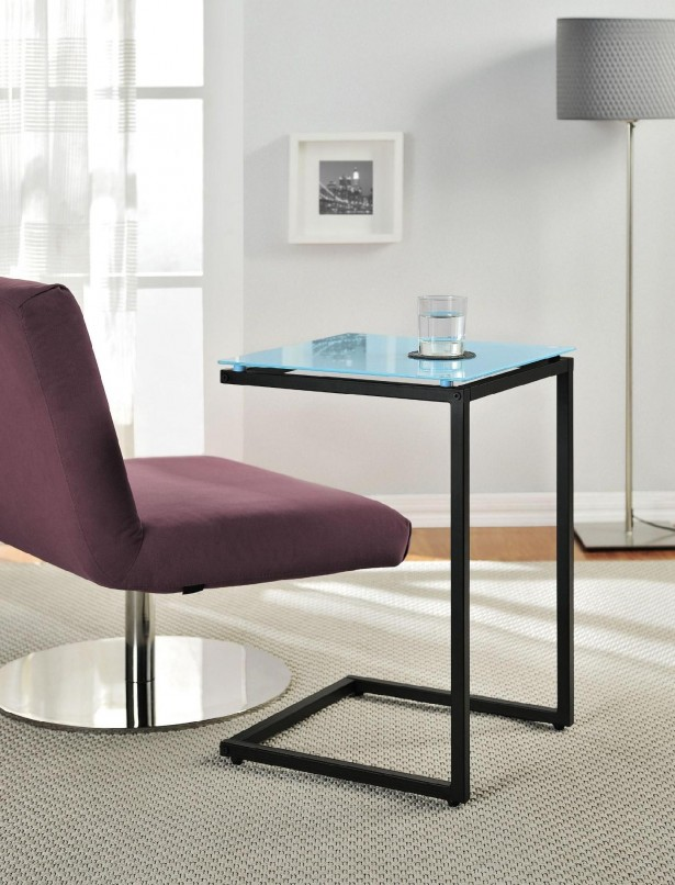 Luxurious C Table From IKEA: Purple Chair Floor Lamp Blue C Table Design Glass Top ~ stevenwardhair.com Tables Inspiration