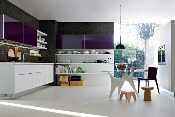 Smart Kitchen Designs With Personality Comes With Stunning Idea: Purple Kitchen Cabinets ~ stevenwardhair.com Kitchen Designs Inspiration