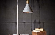 Creative DIY Lamp Design From Second Hand Items : Reading Lamp Made From Distressed Funnels