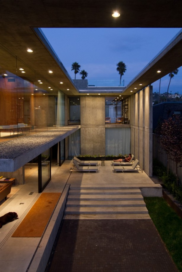 Amazing Open Plan Residence So Bright And Spacious With Glass Wall: Real Section House View With Incredible Double Height Ceiling Concept ~ stevenwardhair.com Villas Inspiration