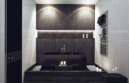 Sleek Studio Room Ideas You Need To Know : Recessed Lighting Works Beautifully In A Minimalist Setting