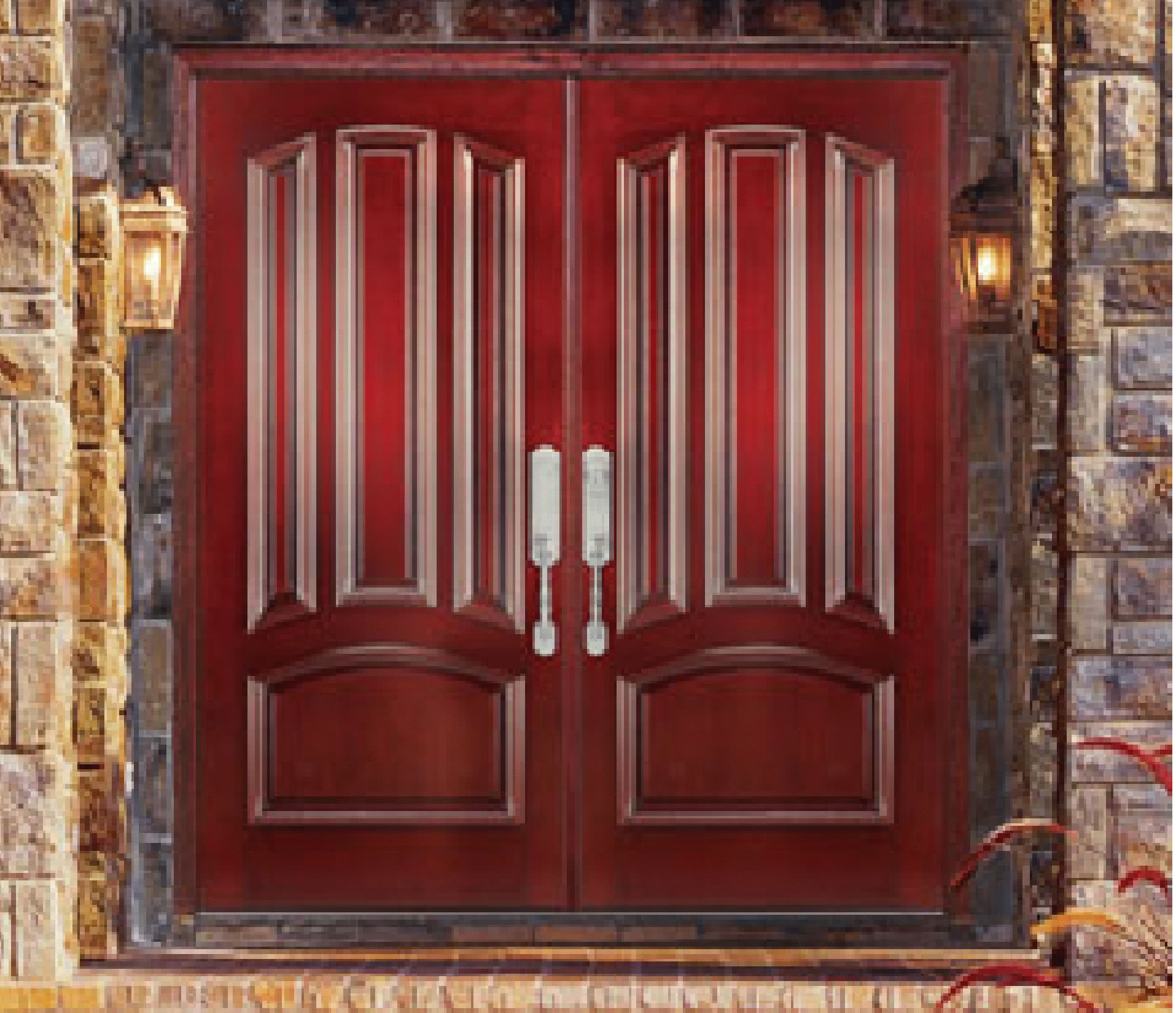 Wood Doors: Simple But Enchanting : Red Jeldwen Wood Doors