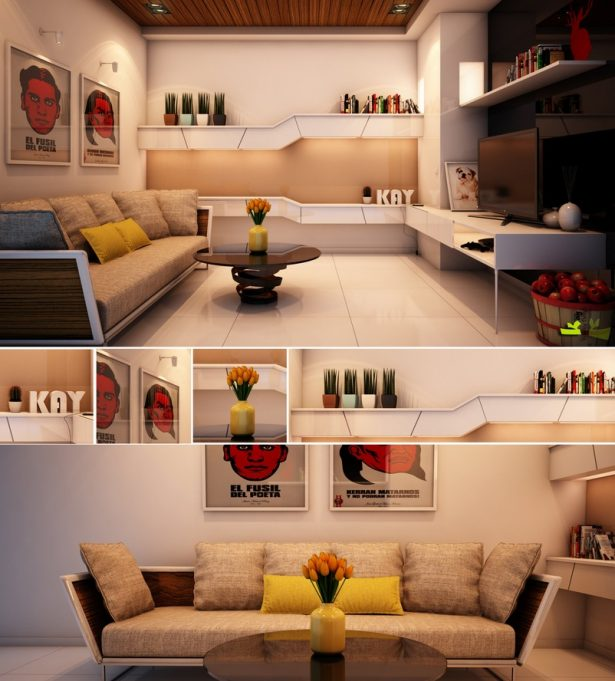 Casual Modern Living Rooms With Contemporary Minimalist Appearance: Red Yellow White Living Room ~ stevenwardhair.com Living Room Design Inspiration