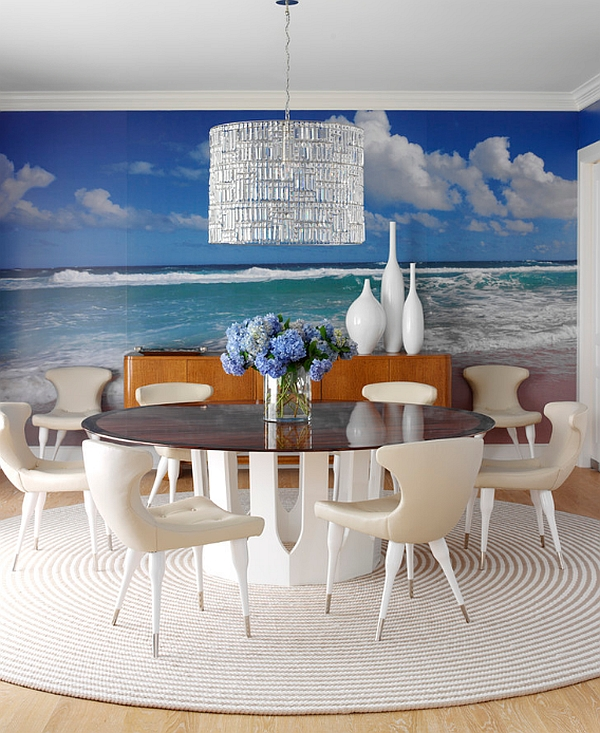 Inspirational Conference Table Design That You Will Love: Refreshing And Brilliant Backdrop For Home Conference Room With White Chair Furniture Design