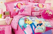 Sweet Princess Comforter With Smooth Comfortable Design : Refreshing And Lively Barbie Bed Sheets Win You Over