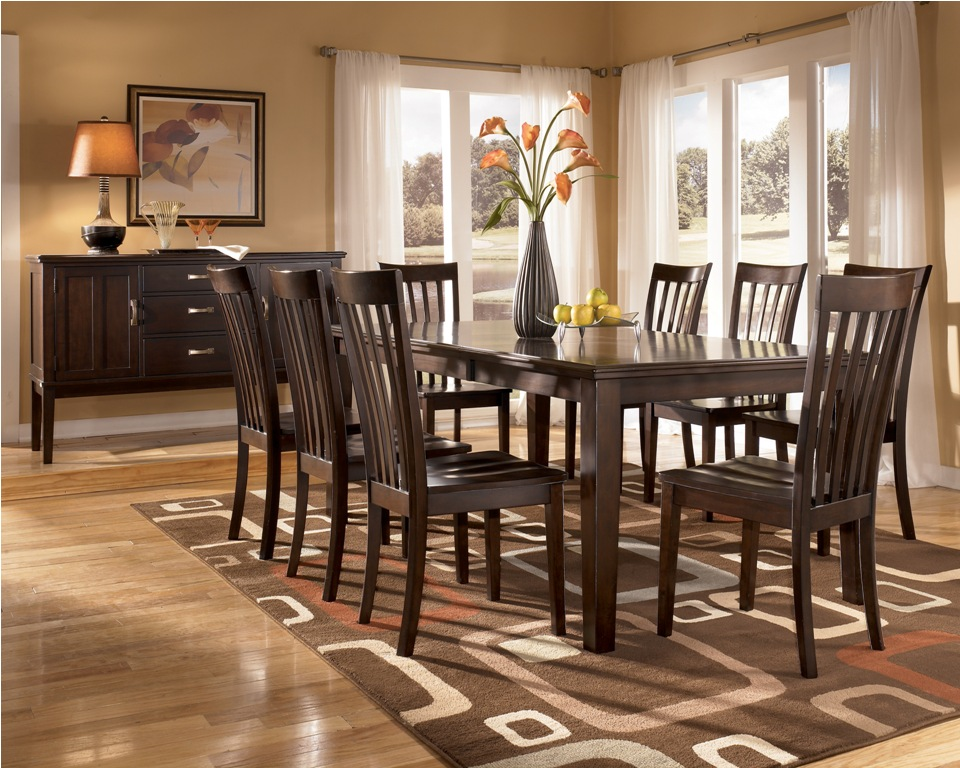 Cheap Dining Room Sets Decoration Ideas: Retro Ashley Dining Room Furniture