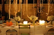 Bright Spring Party: 20 Lively Ideas : Ribbons Hanging Over An Outdoor Table