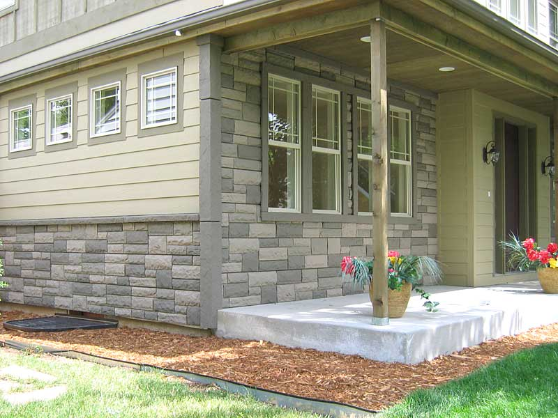 Strengthen Your Exterior Design With Natural Rock Siding For Houses : Rock Stone Siding Ideas