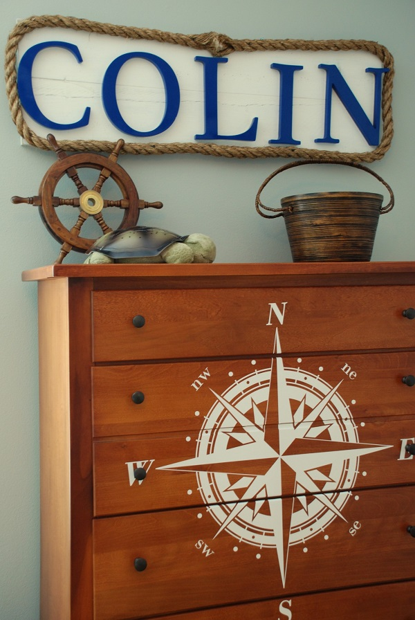 Great Nautical Decoration Design Comes With The Amazing Appearance: Rope Framed Wooden Letters