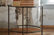 Well Dressed Art Deco Furniture (20 Ideas) : Round Art Deco Style Mirrored Side Table