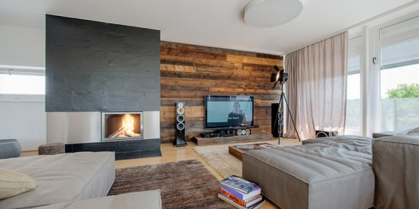 Sporty Interior Design Of Vienna Penthouse : Rustic Modern Apartment