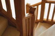 Classy Winder Staircase Design Represents With Rustic Looks : Rustic Wood Railing Fascinating Winder Staircase Design Warm Stair Steps