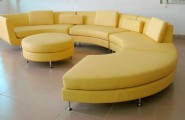 Yellow Sofas And Its Many Designs : San Remo Contemporary Yellow Leather 5 Pc Sofa