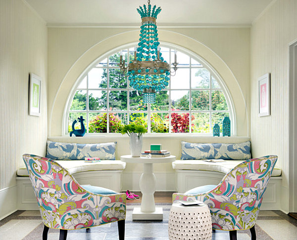 Artistic Pastel Color Palette Decoration : Saturated Pastels In An Upscale Sitting Area