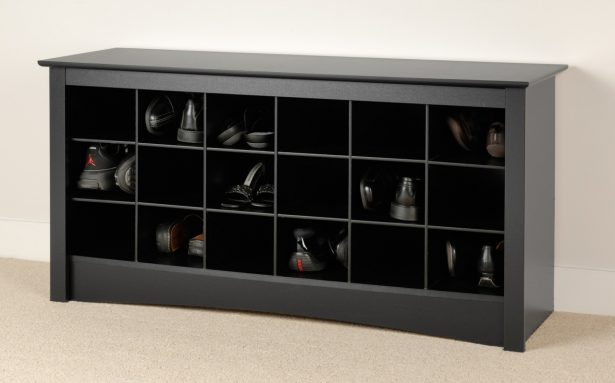 Cubby Bench, Doubled The Function: Shoe Storage Cubby Bench In Black ~ stevenwardhair.com Tips & Ideas Inspiration