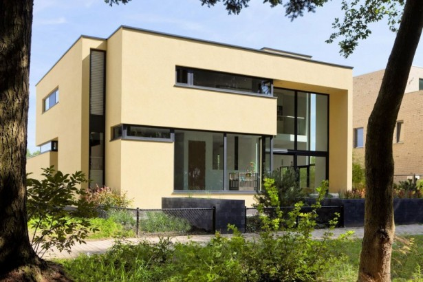 Excellent Modern Home For Comfortable Home And Interior: Side View Of Building Design Project Of Stylish House A And J ~ stevenwardhair.com Interior Design Inspiration