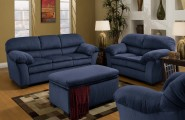 Blue Sofas Selection For Minimalist Living Room : Simmons Deluxe Blue Sofas