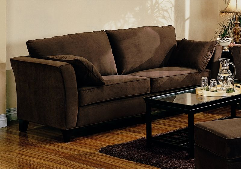 Brown Sofas Filling A Modern Style Living Room: Simple Brown Sofa
