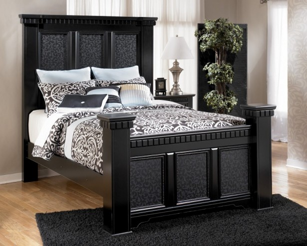 Cool Black Bedroom Furniture Appropriate With Various Bedroom Ideas: Simple Elegant Black Bedroom Furniture Indoor Vegetable White Curtain ~ stevenwardhair.com Bedroom Design Inspiration