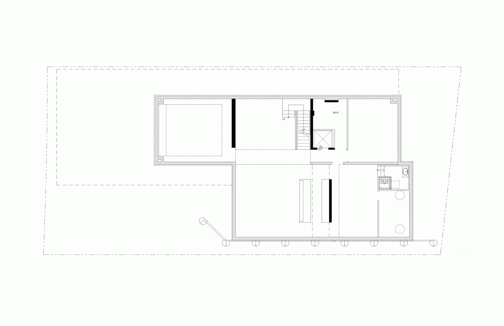 Amazing Open Plan Residence So Bright And Spacious With Glass Wall: Simple Home Basement Floor Plan Picture To Benefit