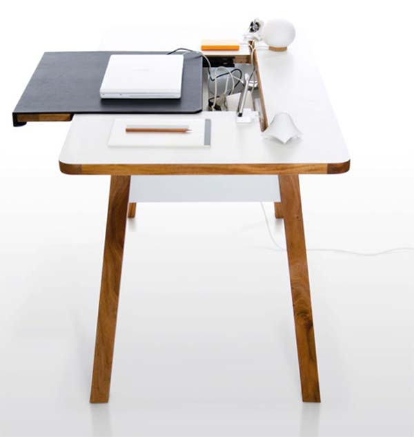 Creative Ideas Home Office Furniture, Be Comfortable: Simple Studio Work Desk Design