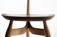 Intriguing Table And Chair Made From Well Done Handcraft Project : Simple Wooden Chair Design In Closer View Detail