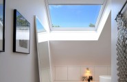 Simple White Interior Bring Calm Nuance To Your House : Skylights Offer Natural Freshness