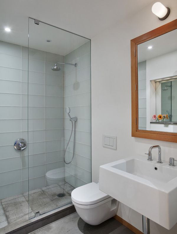 Glass Shower Door For Bigger Impression: Sleek Modern Bathroom Ideal For The Contemporary Apartment Space