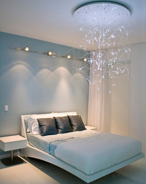 30 Design Ideas Of Modern Floating Bed: Sleek Modern Bedroom Design With Lovely Lighting And A Floating Bed