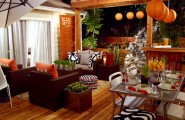 Beautiful Orange Interior Paint To Energize Your Life Every Day! : Sleek Outdoor Living Area Design With Orange Decor Ideas