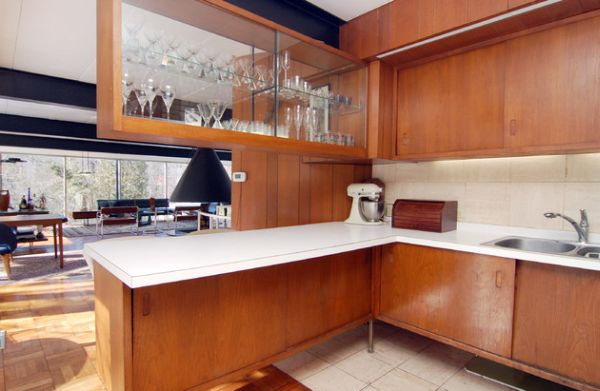 Sparkling Kitchen Cabinet Designs With Glass Doors : Sliding Glass Cabinet Doors For A Shelf That Does Not Block Your View