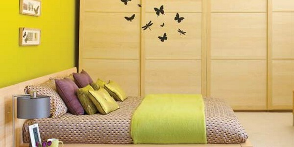 Outsized Your Space With These Inspiring Wall Colors For Small Rooms : Small Bedroom Yellow Color Ideas