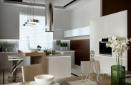 Small Modern Kitchen Design To Show Up The Charming Style : Small Contemporary Kitchen With Bar Modern Kitchen Design Dining Table