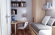 Make Large View Of Your Space With Wall Colors For Small Rooms : Small Dorm Room Design Idea