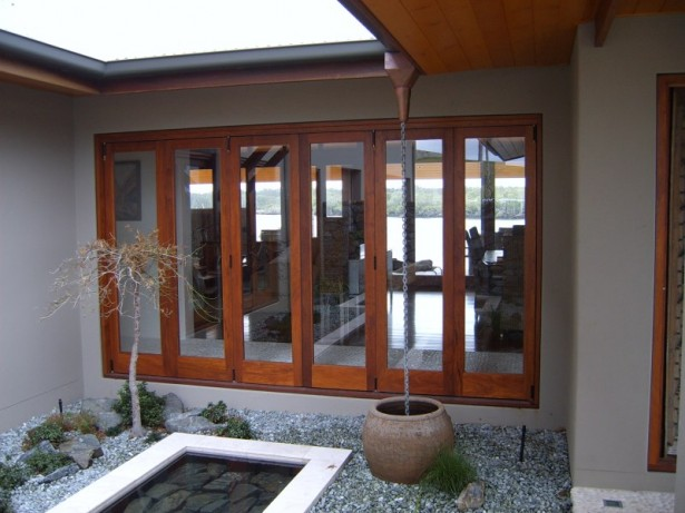Natural Wooden Windows And Door Designs Create Warm Atmosphere: Small Grovels Earthen Pot Wooden Windows And Door Designs ~ stevenwardhair.com Windows Inspiration