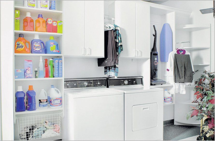 Stunning Laundry Room Organization Ideas For A Limited Space : Small Modern Style Bright Interior Laundry Room Organization Ideas