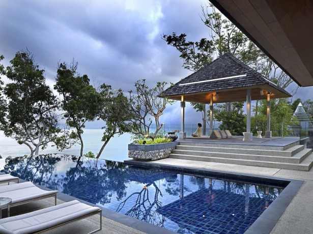 Fantastic Contemporary Villa Design Offers Classy Facilities: Small Patio With Stairs Near Infinity Pool ~ stevenwardhair.com Villas Inspiration