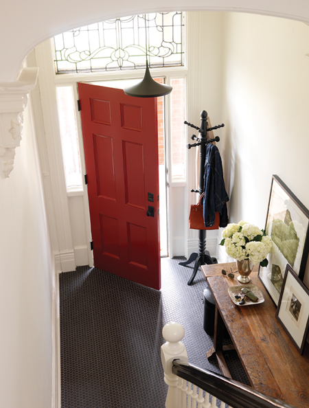 Stunning Red Door Interiors Be Narcissist : Small Room Red Door Interiors Tile Black Floor Design