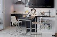 Dining Room In Limited Space Designed Attractively : Small Space Dining Room Kitchen